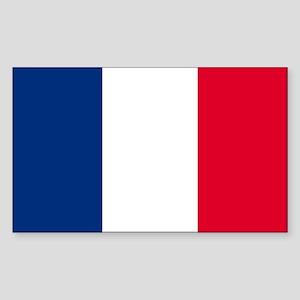 France Rectangle Sticker