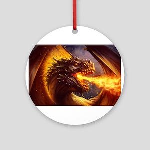 Fire dragon Round Ornament