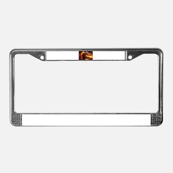 Fire dragon License Plate Frame