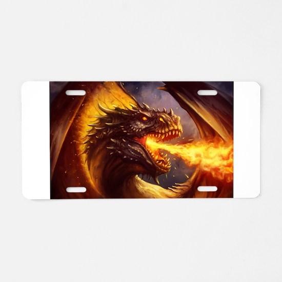 Fire dragon Aluminum License Plate