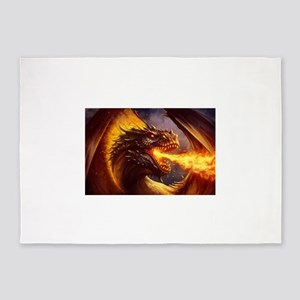 Fire dragon 5'x7'Area Rug