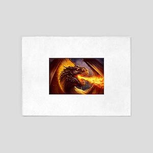 Fire dragon 5'x7'Area Rug