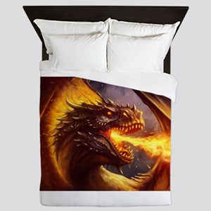 Fire dragon Queen Duvet