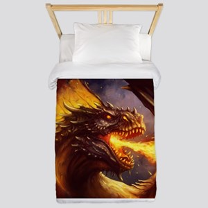 Fire dragon Twin Duvet