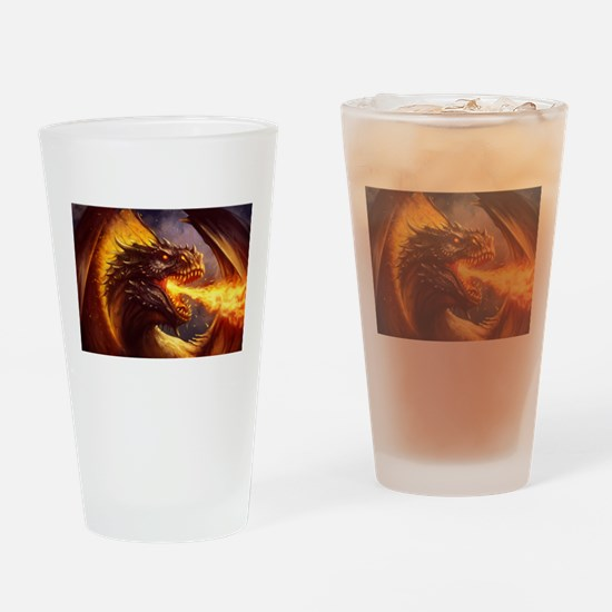 Fire dragon Drinking Glass