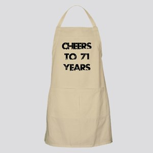 Cheers To 71 Years Designs Apron