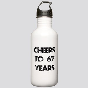 Cheers To 67 Years Des Stainless Water Bottle 1.0L