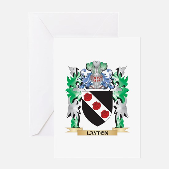 Layton Coat of Arms - Family Crest Greeting Cards