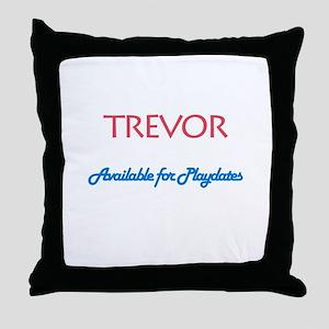 Trevor - Available for Playda Throw Pillow