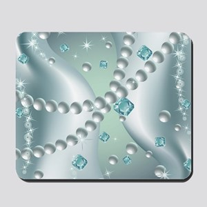 Teal Pearl Abstract Mousepad