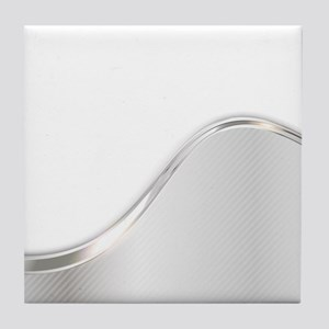 Light Wave Abstract Tile Coaster