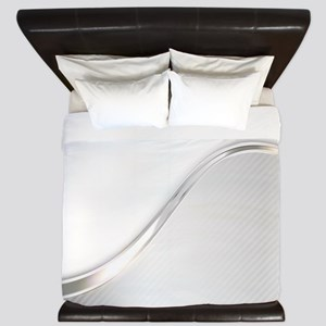 Light Wave Abstract King Duvet
