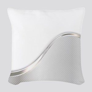 Light Wave Abstract Woven Throw Pillow