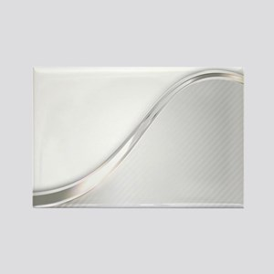 Light Wave Abstract Rectangle Magnet