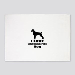 I Love German Wirehaired Pointer Do 5'x7'Area Rug