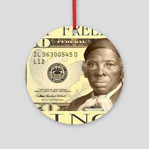 Harriet Tubman $20 Bill Round Ornament