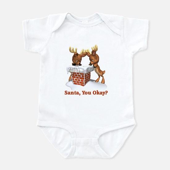 Funny Santa You Okay Infant Bodysuit