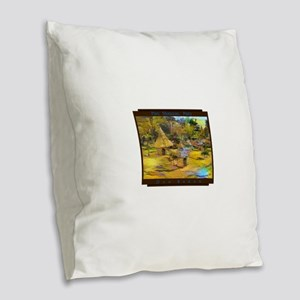 Parc Monceau, Paris Burlap Throw Pillow