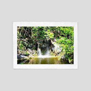 Bahamas Waterfall 2 5'x7'Area Rug