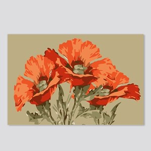 Red Poppies Postcards (Package of 8)