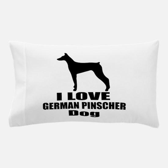 I Love German Pinscher Dog Pillow Case