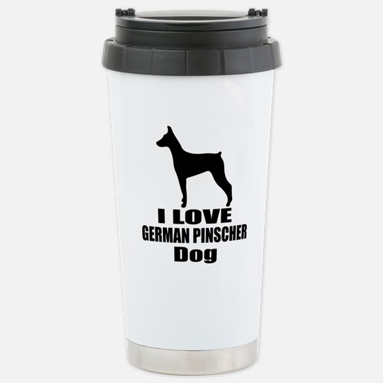 I Love German Pin Travel Mug