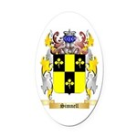 Simnell Oval Car Magnet