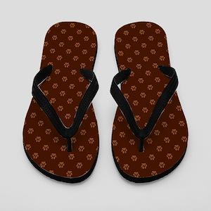 PLAID PAWS Flip Flops