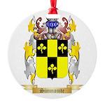 Simmonite Round Ornament