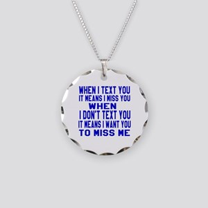 When I Text You Designs Necklace Circle Charm