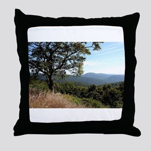 Skyline Drive View Throw Pillow