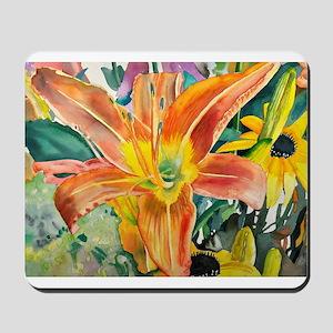 Tiger Lily Original Watercolor Mousepad