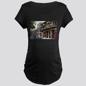French Quarter Street Maternity T-Shirt