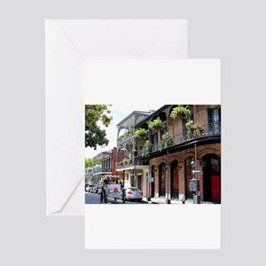 French Quarter Street Greeting Cards