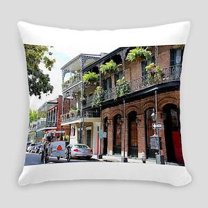 French Quarter Street Everyday Pillow