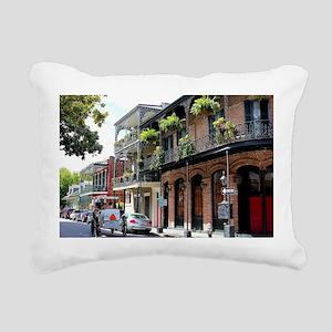 French Quarter Street Rectangular Canvas Pillow