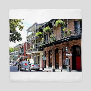 French Quarter Street Queen Duvet