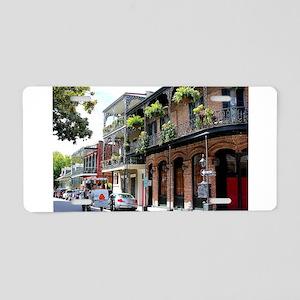 French Quarter Street Aluminum License Plate