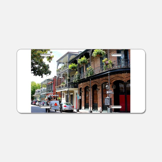 French Quarter Street Aluminum License Plate