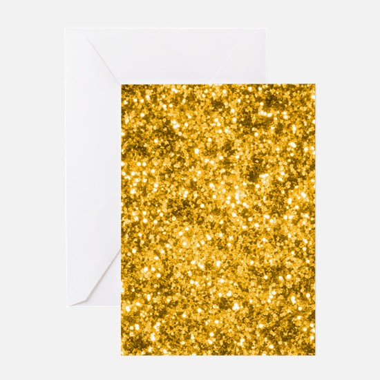 Golden Glitter Greeting Cards