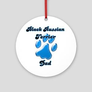 Black Russian Dad3 Ornament (Round)