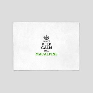 Macalpine I cant keeep calm 5'x7'Area Rug