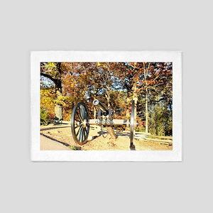 Gettysburg Cannon 5'x7'Area Rug