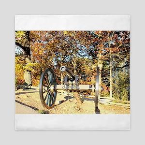 Gettysburg Cannon Queen Duvet