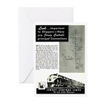 Jersey Central Lines Greeting Cards (Pk of 20)