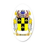 Simione Oval Car Magnet