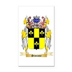 Simione Rectangle Car Magnet