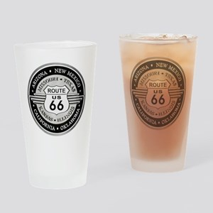 Route 66 states Drinking Glass