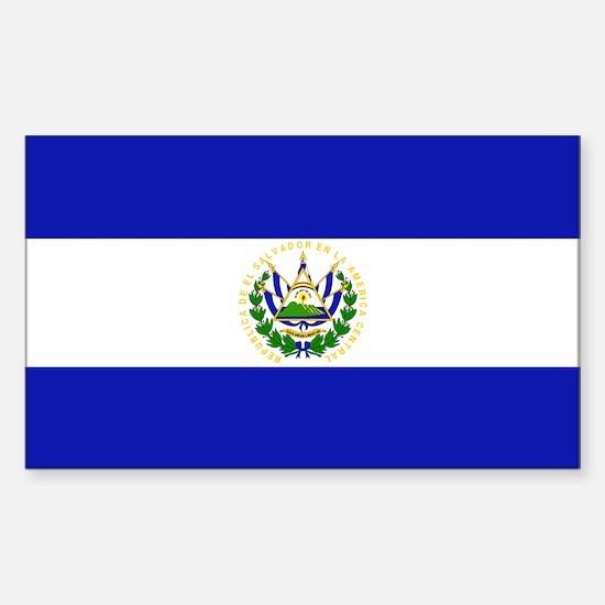 El Salvador Rectangle Decal