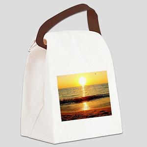 Sunset Beach Canvas Lunch Bag